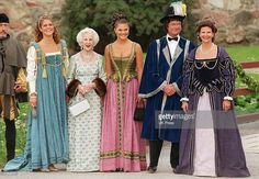 Left to right, Sweden''s Princess Madeleine, Princess Lilian, Princess Victoria, King Carl Gustav, and Queen Silvia pose for a photograph before attending an evening function at Gripsholm Castle as part of a two day of celebration to mark the 25th wedding anniversary of the King and Queen June 18, 2001 in Sweden. (Photo by UK Press via Getty Images)