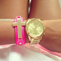 MK and Love The Pink Bracelet