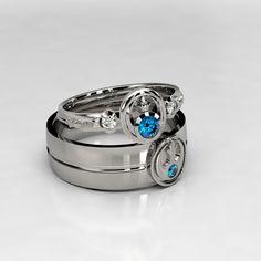 Star Wars Lightsaber Ring Mens Engagement Ring 14k Palladium