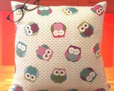Owl Cushions Nursery Cushions Owl Covers Polka Dot Cushions Bird Cushions Two Ugly Sisters Owl Cushion, Cushion Pads, Cushion Covers, Nautical Cushions, Childrens Cushions, Seaside Decor, Pretty Bedroom, Bird Patterns, Holiday Themes