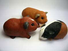 Three Wee Guinea Pigs by QuernusCrafts via Flickr