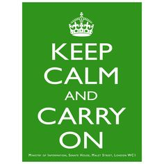 Keep Calm And Carry On British Sign Green | Reproduction Decor | RetroPlanet.com