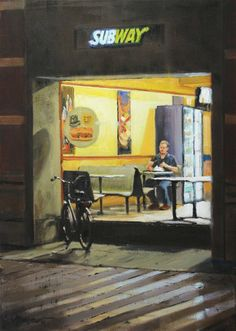 Fastfood #2 | oil on linen painting by Richard van Mensvoort