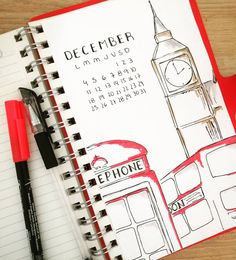 """I have a lot of free time so I decided I… mybujospace: """"London spread! I have a lot of free time and have decided to make theme spreads for the holidays. I think I will keep this theme throughout December. Bullet Journal Mise En Page, Bullet Journal Travel, Bullet Journal Cover Ideas, Bullet Journal Notebook, Bullet Journal School, Bullet Journal Layout, Bullet Journal Inspiration, School Scrapbook, Travel Scrapbook"""