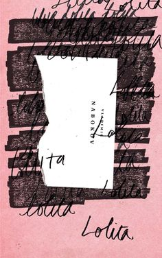 Lolita by Vladimir Nabokov // Book cover design by Ben Wiseman Graphic Design Posters, Graphic Design Illustration, Graphic Design Inspiration, Typography Design, Lettering, Typography Served, Graphisches Design, Buch Design, Layout Design