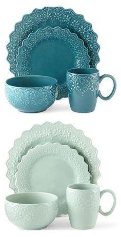 Dinnerware Sets, China Dinnerware, Vase Deco, Pioneer Woman Kitchen, Dinner Sets, Dinner Ware, Chantilly Lace, China Patterns, Kitchen Accessories