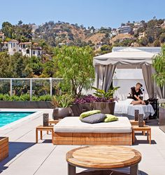 Andaz West Hollywood, California - Guests can lounge in bed-like bungalows or indulge in a massage by the rooftop pool. California Dreamin', Hollywood California, Hollywood Hills, West Hollywood, Piscina Hotel, Outdoor Spaces, Outdoor Living, Cool Deck, City Of Angels