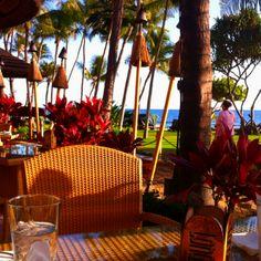 take a seat at Longboards restaurant...kaanapali, maui.
