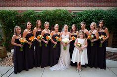 Bridesmaids Jewelry | Statement Necklaces | Flower Girl Necklace | Custom Wedding Jewelry | Eggolant dresses | Norfolk Wedding | Hermosa Jewelry Charleston SC