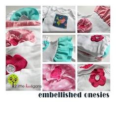 Embellished Onesie Dresses {Tutorial}