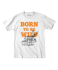 Another great find on #zulily! White 'Born to Be Wild' Tee - Toddler & Kids by Country Casuals #zulilyfinds