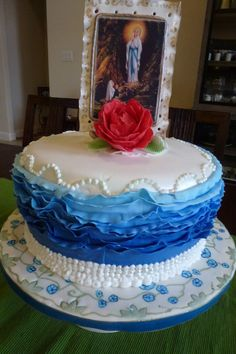 special cake for Lady of Lourdes