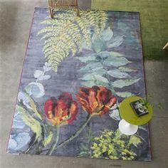 Tulipani Graphite Rug   Designers Guild