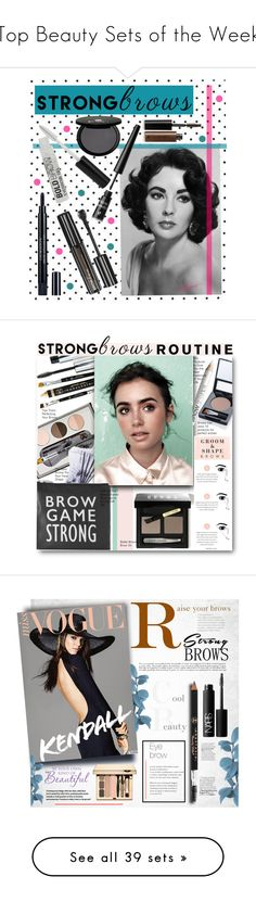 """""""Top Beauty Sets of the Week"""" by polyvore ❤ liked on Polyvore featuring beauty, Maybelline, Christian Dior, BBrowBar, Emani, Illamasqua, Bobbi Brown Cosmetics, NARS Cosmetics, Clarins and BeautyTrend"""