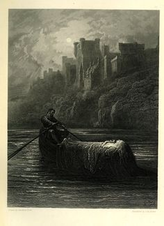 """The Body of Elaine on Its Way to King Arthur's Palace"", Gustave Dore'."