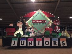 Junior Homecoming Float Gridley High School Monopoly Board Game Theme Homecoming Hallways, High School Homecoming, Homecoming Spirit Week, Homecoming Parade, Homecoming Decorations, Prom Themes, Homecoming Ideas, Homecoming Dresses, Monopoly Party