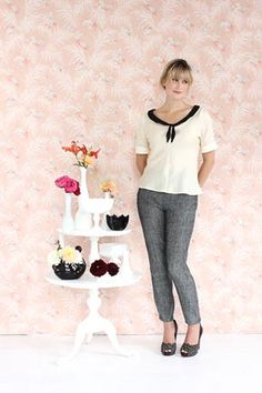 Colette Patterns Jasmine: A really cute blouse with tie neckline detail