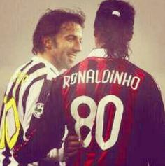 Ronaldinho and DelPiero  AC Milan and Juventus