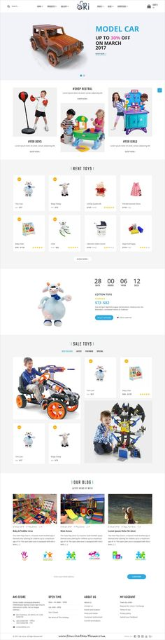 Aki is clean and modern design 7+ responsive WordPress theme for multipurpose Kindergarten and #kids #playzone, clothes and #toys shop eCommerce website to live preview & download click on Visit 👆