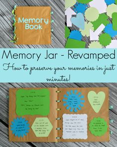 Collect your memories throughout the year on little notes, then easily transfer them to a scrapbook. So easy and simple!