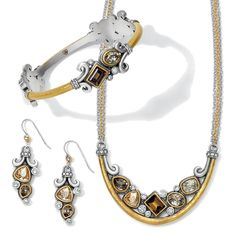 New Beautiful  Lioness Collection rules with its bold shapes and dazzling crystals. Mixed metals and a warm palette of topaz and golden-hued in bold shapes add sophistication to this fresh take of  feminine sophistication.