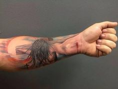 Jesus Tattoo. Arm tattoo. Christian tattoo. Tattoo idea. Forearm tattoo