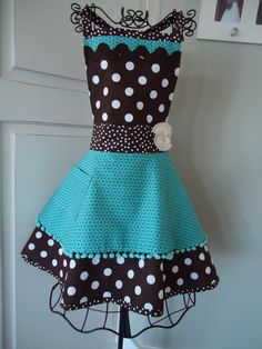 "Super cute #apron inspiration! $34.95 from 4RetroSisters on etsy.com. Please note:  This particular ""listing"" may no longer be available but the link will take you to seller's store so you can view other options."