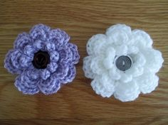 Crochet flowers made from a pattern on my crochet board. Love these, quite easy to do, will make some for winter jumpers.