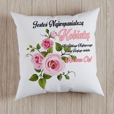 #dzieńkobiet #poduszka #dlaniej Throw Pillows, Bed, Toss Pillows, Cushions, Stream Bed, Decorative Pillows, Beds, Decor Pillows, Scatter Cushions