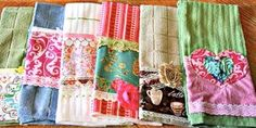 She Embellishes Regular Kitchen Towels And They're So Cute You'll Have To Do This!   With all of the scraps I have left over from all my sewing projects I decided to make up some cute tea towels for my kitchen and to give as housewarming gifts and other gifts for friends. Everyone loves the...