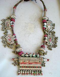 vintage antique ethnic tribal old silver taviz by tribalsilver99