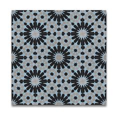 bathroom  Agdal Blue and Grey Handmade Cement/ Granite 8 x 8-inch Floor and Wall Tile Pack of 12 , Handmade in Morocco