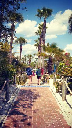 What a beautiful walk back to hotel at Tropical Beach Resorts on Siesta Key, FL!