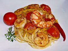 Spaghetti mit Garnelen, ein leckeres Rezept aus der Kategorie Gemüse. Bewertungen: 231. Durchschnitt: Ø 4,4.