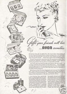 1937 Avon Products Cosmetics Perfume Christmas Present Gift Sets Vintage Ad