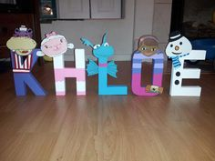 Doc McStuffins Character letters by Mommyhomemadeframes on Etsy, $8.00