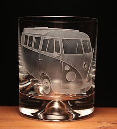 VW Volkswagen camper van split screen splitty engraved glass tumbler gift