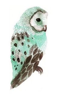 Pretty owl drawing - love the feathers