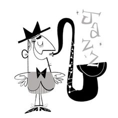 There's always time for more jazz. #illustration #doodle #jazz #saxophone #wednesday