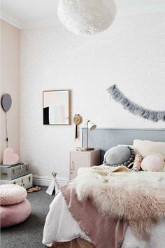 This is what the home of Scandi interiors store owner looks like Mustard Bedding, Scandi Bedroom, Bungalow Renovation, Childrens Room Decor, Little Girl Rooms, Luxury Bedding, Decoration, Girls Bedroom, Bedrooms