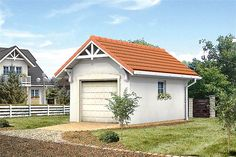 Projekt G2-4.12a Bungalow House Plans, Bungalow House Design, Country Modern Home, Facade House, Home Design Plans, Wood Construction, Planer, Outdoor Structures, Cabin