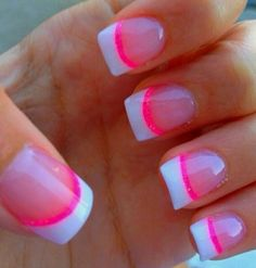 French Tips/Pink Lines