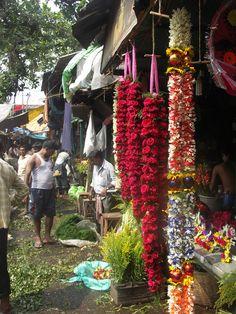 Kolkata flower market under the Howrah bridge.