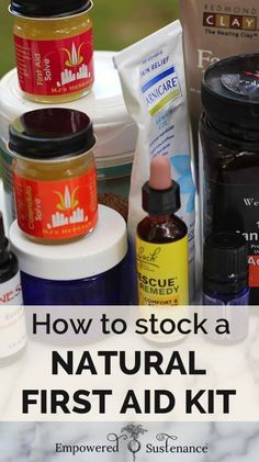 Great tips on easy natural remedies and a list for stocking a natural first - pin for later! #naturalremedies #DIY