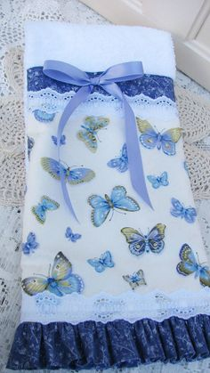 Made In The USA a Pretty Cottage Hand Towel by SomeplaceInTime, $18.00