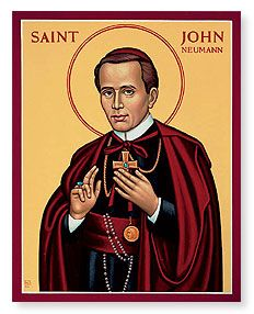 St. John Neumann: Reluctant Philadelphia bishop - Establishing schools, communities, and practices - Fourty hour devotion.