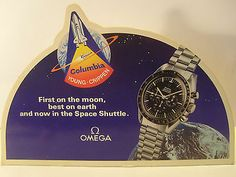 OMEGA WATCH SPEEDMASTER PROFESSIONAL COLUMBIA SPACE sign Advertising display