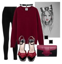 """""""Untitled #168"""" by susans-sg ❤ liked on Polyvore featuring Balmain, Emeline Coates and Fallon"""
