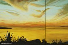 ANGELIC SYMPHONY V, triptych, oil on canvas, 80x100cm, 2002 Triptych, Oil On Canvas, Angel, Painting, Art, Art Background, Tri Fold Brochure, Painting Art, Kunst