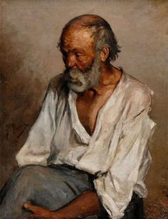 Pablo Picasso, The old fisherman, 1895